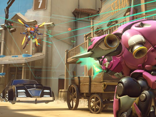 A scene from the competitive first-person shooter 'Overwatch.'