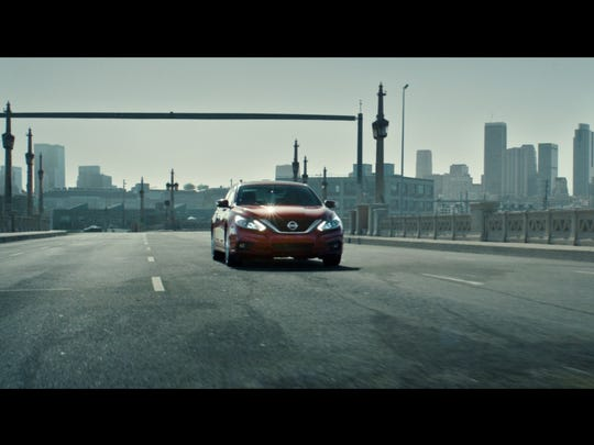 Nissan is launching a new ad campaign that includes this image of a Nissan Altima.