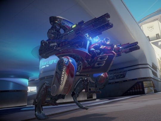A scene from 'RIGS: Mechanized Combat League.'