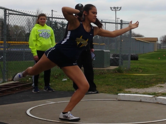 Woodmore's Annalicia Torres has finished first in the shot put at every meet this season.