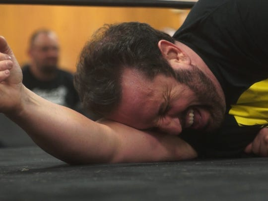 Former WWE star Tommy Dreamer wrestles at Jackson Fire