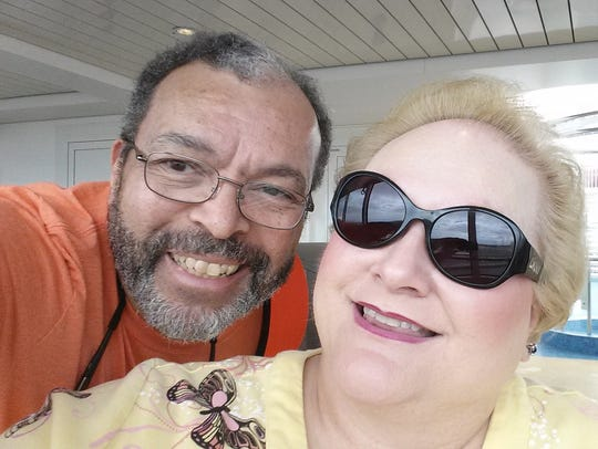 Carol Chichester and her husband.
