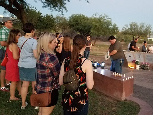 Phoenix vigil held for Capital Gazette shooting