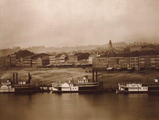 Daguerreotype of the Cincinnati skyline taken on Sept.