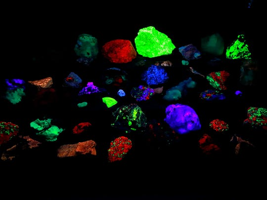 A fluorescent mineral display was one of the attractions at the 30th annual San Juan County Gem & Mineral Show on Saturday at the Farmington Civic Center.