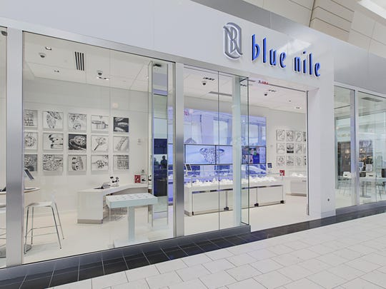 This photo provided by Blue Nile shows the outside of Blue Nile Webroom at Washington Square in Portland, Ore.