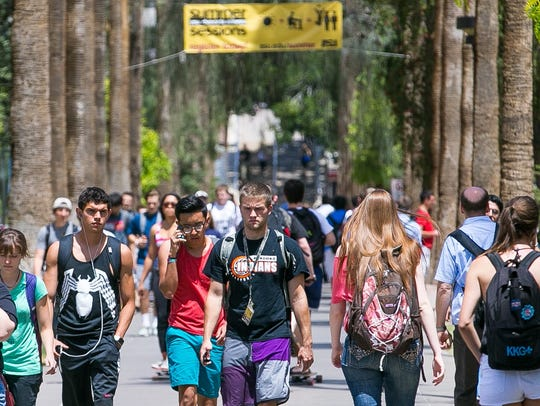 Arizona State University students living on and near