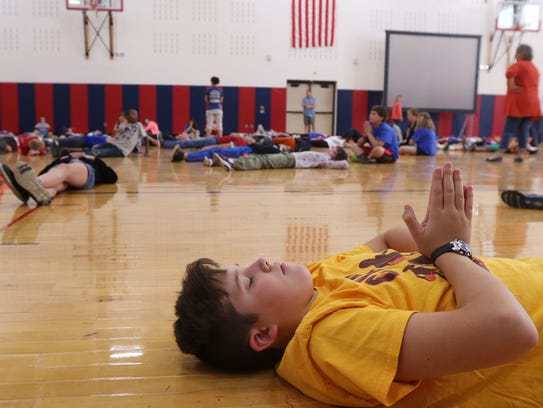 Johanna Perrin Middle School had a schoolwide mindfulness