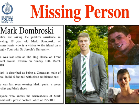 The Bermuda Police Service is looking for a missing
