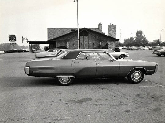 The parking lot of the Machus Red Fox restaurant in Bloomfield Township where Jimmy Hoffa's car was found July 31, 1975.