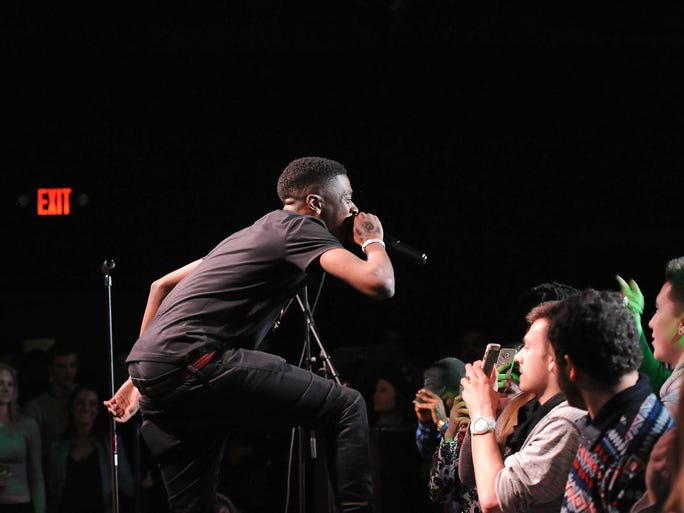 Milwaukee rapper IshDARR performs at the Milwaukee Journal Sentinel???s free Wisconsin Bands to Watch concert Friday at the 88Nine Radio Milwaukee Studios.