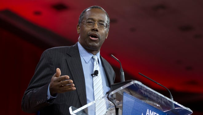 Ben Carson speaks during the Conservative Political Action Conference in National Harbor, Md., on Feb. 26, 2015.