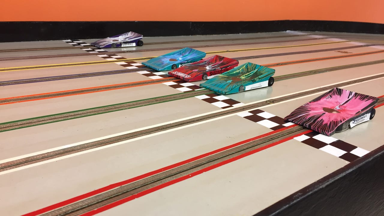 Owner Colton Harmon hopes to open Slots of Fun Speedway at 130 Eisenhower Drive in mid-January.