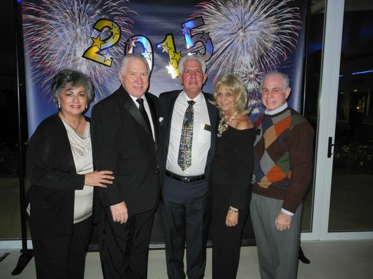 From left: Elena Hanson, Doug Hanson, Richard Balocco, Loretta Ferraro and Mitch Blumberg.