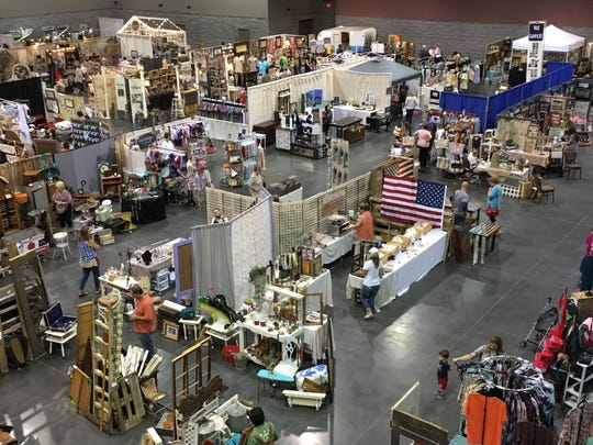 More than 100 vendors take part in Branson Market Days at the convention center in Branson May 12 and 13. The event showcases clothing, antiques and handmade items for sale by individual business owners.
