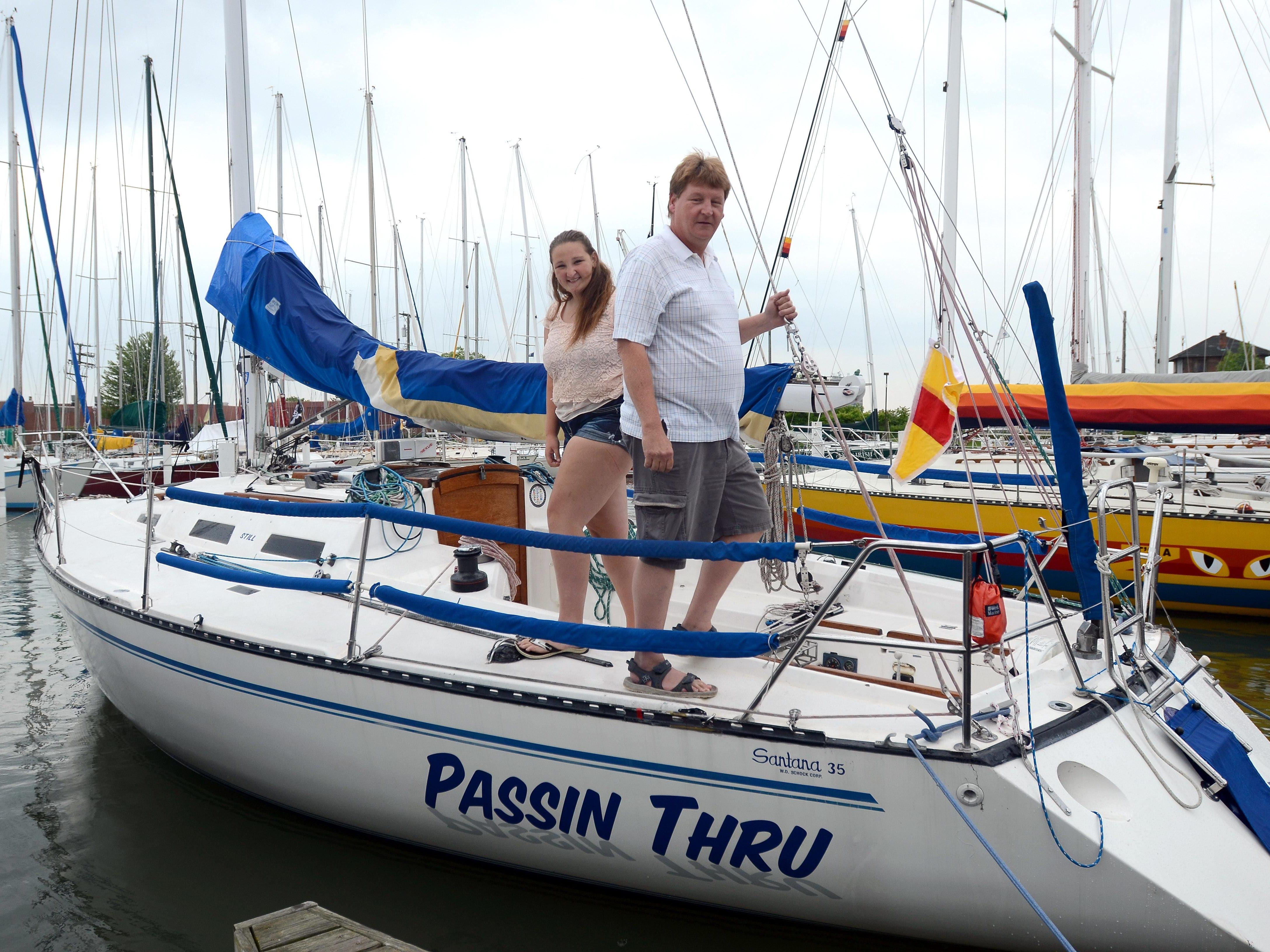 Dave Knupp will have his daughter Olivia, 15, on his crew for this year's Port Huron-to-Mackinac Island sailboat race, her first as a competitor.