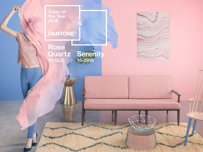 Pantone picks two 2016 colors of the year pale pink and for Color of the year 2016