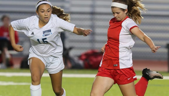 North Rockland plays Suffern in girls soccer at Suffern
