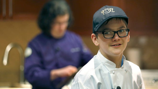 Wyatt Cheatle,12, of Brighton was granted a wish from the Dream Factory and Wegmans to be a baker for a day at Pittsford Wegmans.