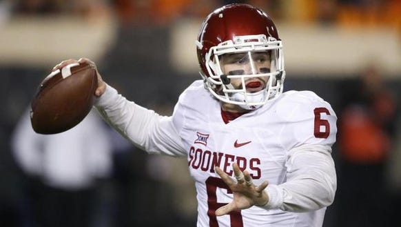 Oklahoma quarterback Baker Mayfield will lead the Sooners