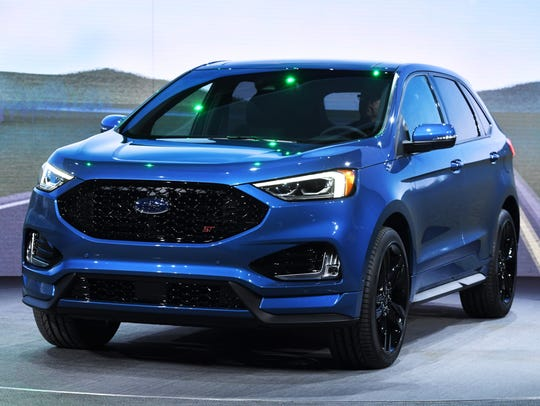 The 2019 Ford Edge ST is unveiled during the press