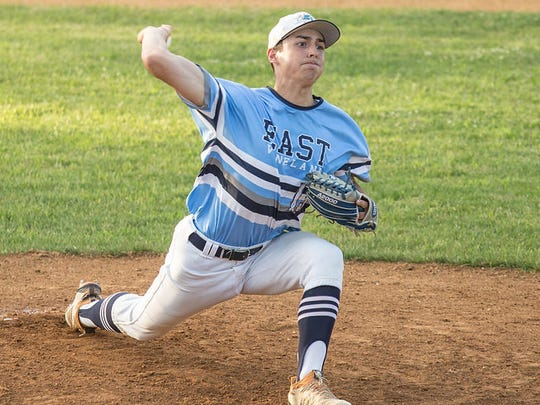 Jeremiah Torres throws a pitch for East Vineland Senior