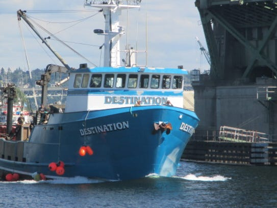 The Destination, now missing in the Bering Sea, is