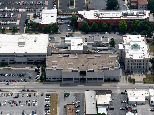 Greene County Justice Center from the air on Friday,
