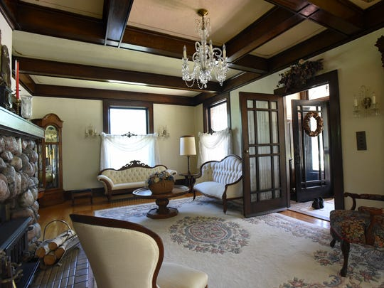 The front living room in the century-old four story