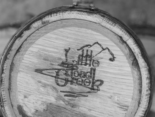 A barrell from Little Toad Creek distillery.