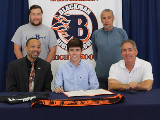 Blackman's Corey Strahan recently signed with University