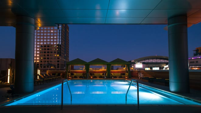 The rooftop pool at Hotel Palomar in Phoenix.