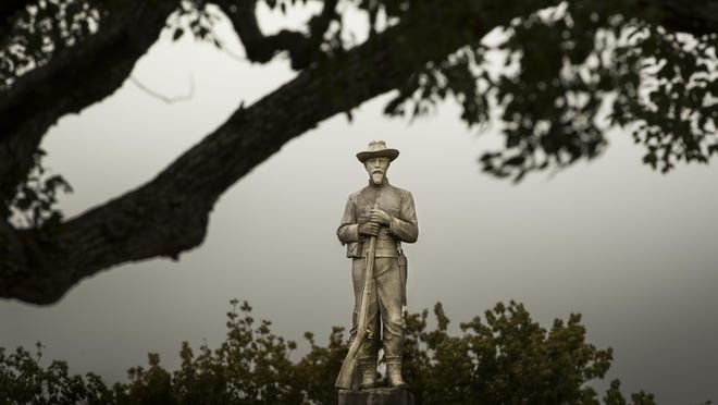 Lakeland commissioners will have to defend their reasons for relocating the Confederate soldier statue from Munn Park to Veterans Memorial Park.