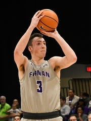 Geoff Beans is averaging 11 minutes, 3.4 points and 1.4 rebounds per game for Furman.