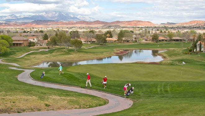 Sunbrook Golf Course in St. George, where a man was hit by lightning Feb. 23, 2018.