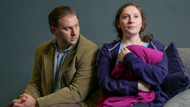 "Eric D. Pasto-Crosby and Rebecca Keeshin in ""Mockingbird"" at Nashville Children's Theatre."