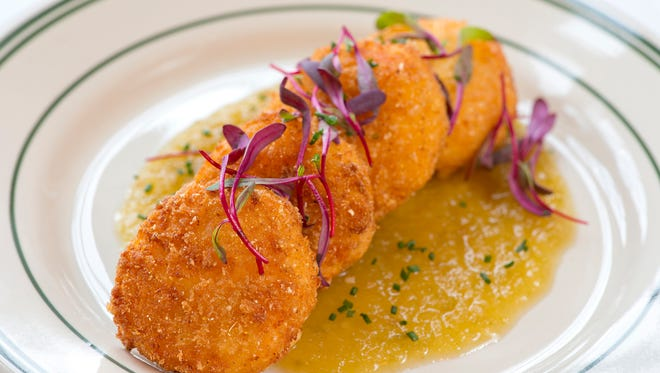 Pimento Cheese Fritters at Son of a Preacher Man, the newest restaurant in O'Bryonville.