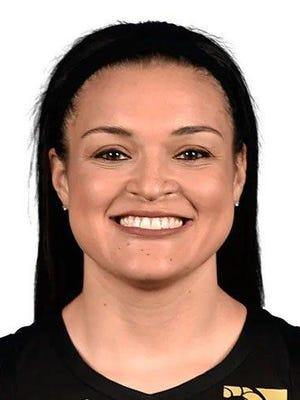 Las Vegas Aces guard Kayla McBride.