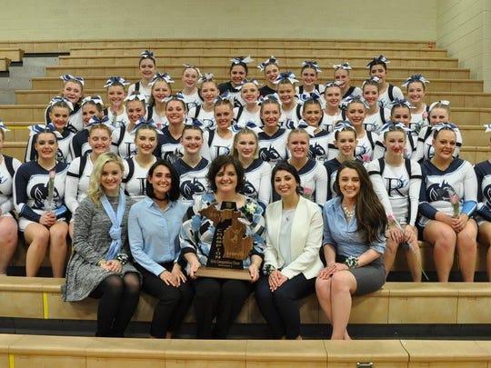 The Richmond High School cheer team won a regional title Saturday night in Flint.