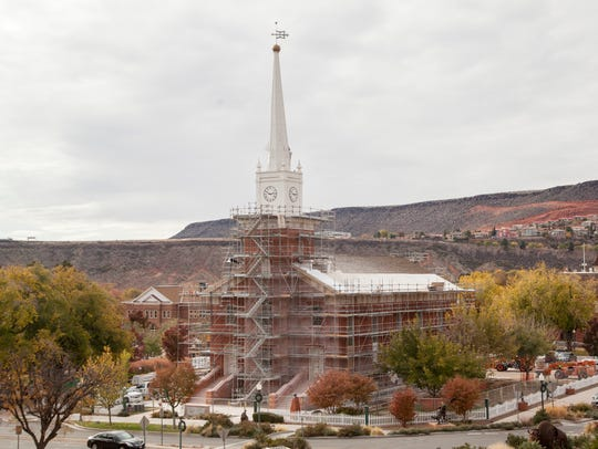 Work crews continue structure renovations on the LDS
