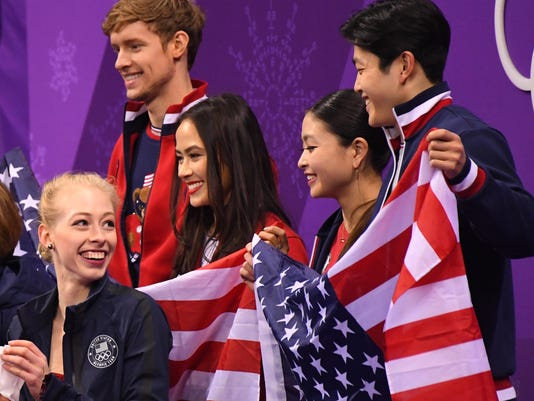 USP OLYMPICS: FIGURE SKATING-TEAM-WOMENS SHORT PRO S OLY KOR