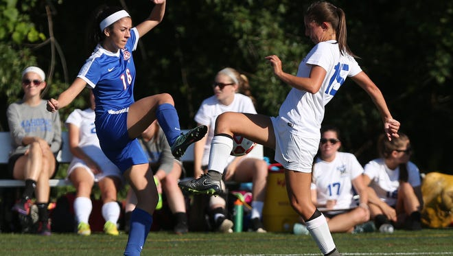 Mahopac defeated Carmel 1-0 in girl's soccer action at Mahopac High School Sept. 23, 2016.