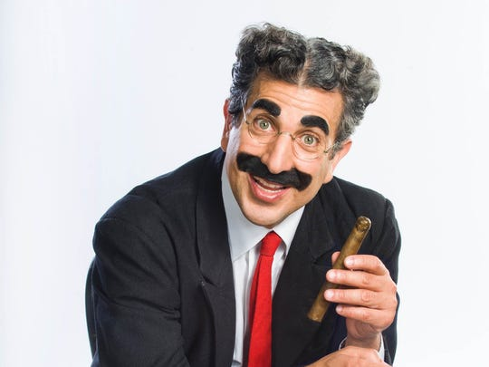 """Frank Ferrante as Groucho Marx, as seen in """"An Evening With Groucho,"""" to be presented Nov. 4-Dec. 17 as part of the Playhouse in the Park's 2017-2018 season in the Thompson Shelterhouse."""