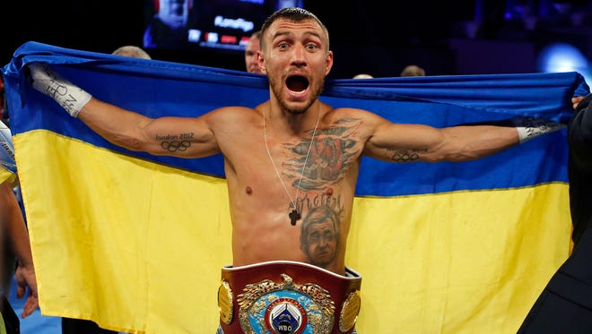 Vasyl Lomachenko, who resides in Camarillo and trains in Oxnard, will fight WBA World lightweight titleholder Jorge Linares on May 12 in New York City.