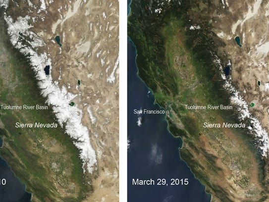 These two natural-color satellite images of the snow