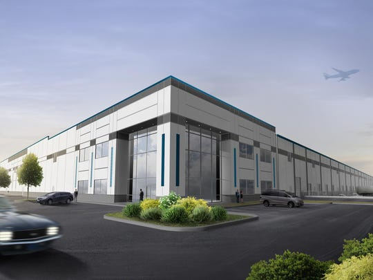 A rendering of the LogistiCenter 275 planned for Wayfair in Erlanger.