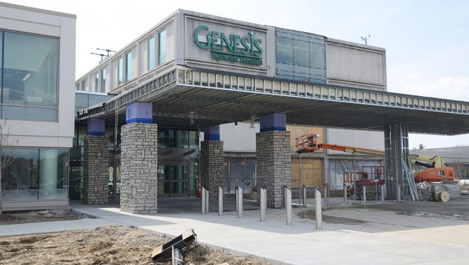 The main entrance to the new Genesis Hospital in Zanesville opened on Saturday. The new facility has taken 18 years of planning, waiting and raising funds for construction before it could be completed. The hospital will officially open this year.
