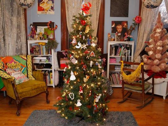 16-year-old Sophia Westcott plants her Christmas tree