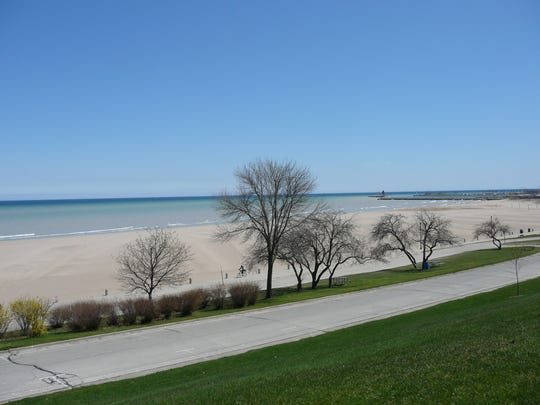 North Beach in Racine offers 50 acres of clean sand,