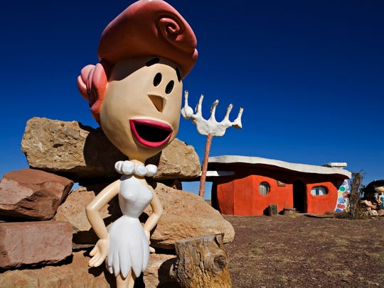Wilma Flintstone gives visitors a great photo opportunity.